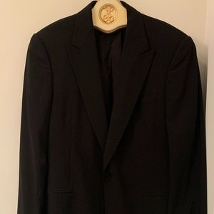 Giorgio Armani black one button blazer jacket 52